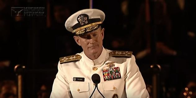 In 2014 By Admiral William McRaven To Graduates Of The University Texas At Austin Was Particular Interest Me Shared 10 Lessons